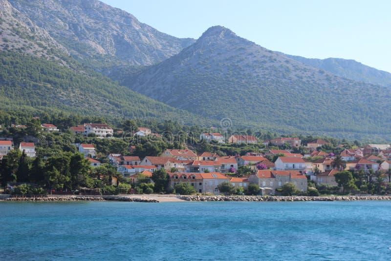 Wyspa w Chorwacja zdjęcia stock