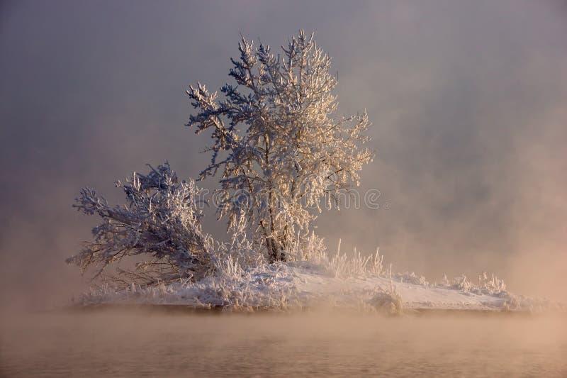 Wyspa w mgle zdjęcie royalty free