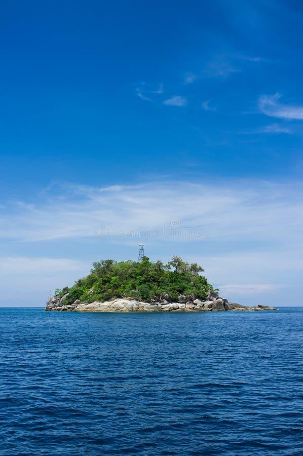 Wyspa w morzu zdjęcia royalty free