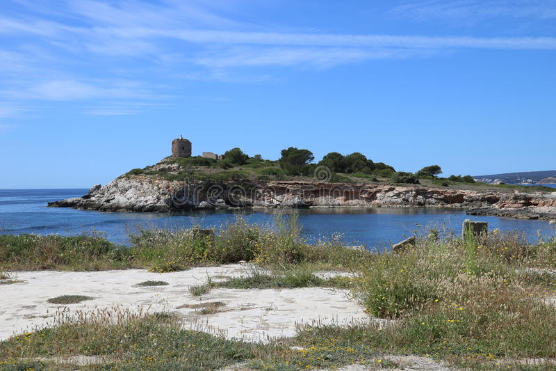 Wyspa w słońcu zdjęcia stock