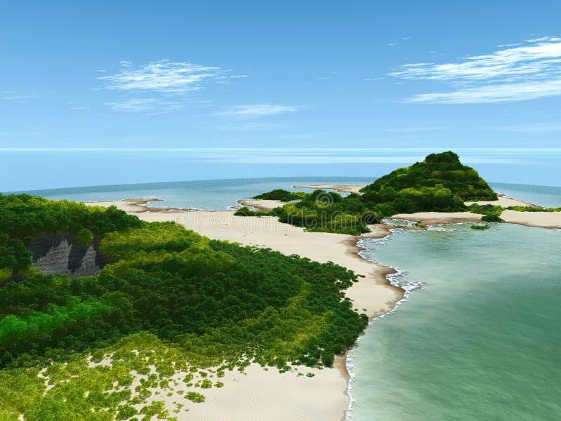 wyspa widok ilustracji