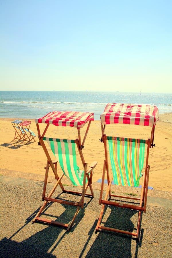 Wyspa Wight Deckchairs zdjęcie stock
