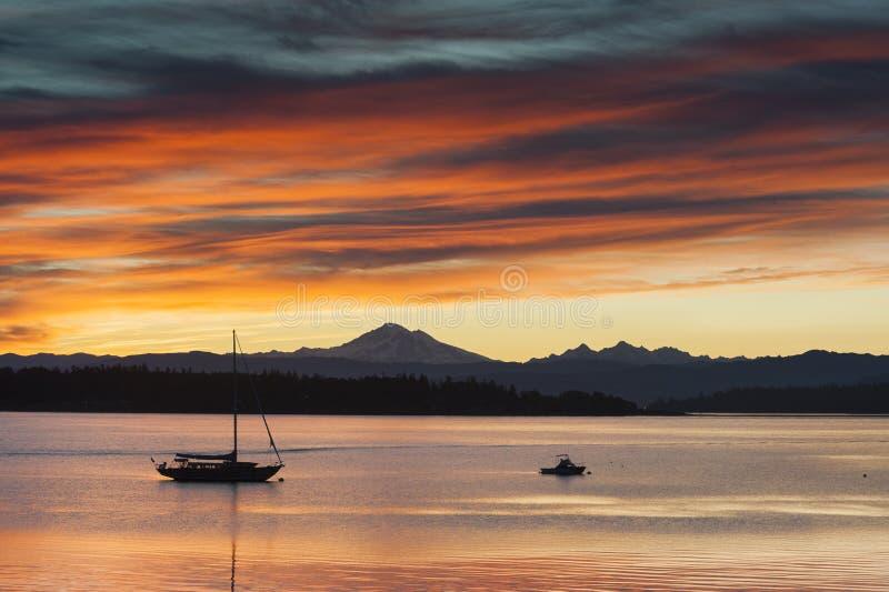 Wyspa wschód słońca obraz royalty free