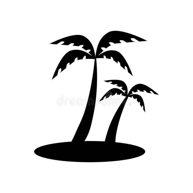 Wyspa z drzewko palmowe ikoną Modna wyspa z drzewko palmowe logo royalty ilustracja