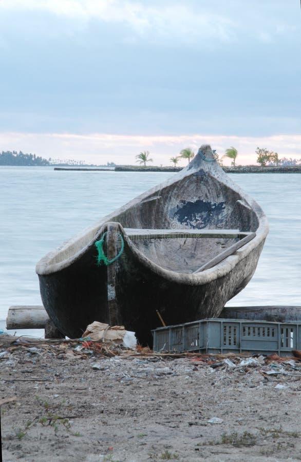 wyspy blas łódź lokalnych San Panama zdjęcia stock