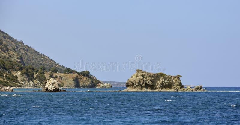 Wyspy blisko Aphrodite skąpań fotografia royalty free