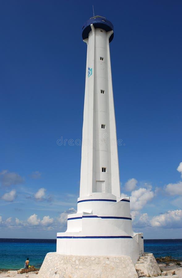 wyspy cozumel latarnia morska fotografia royalty free