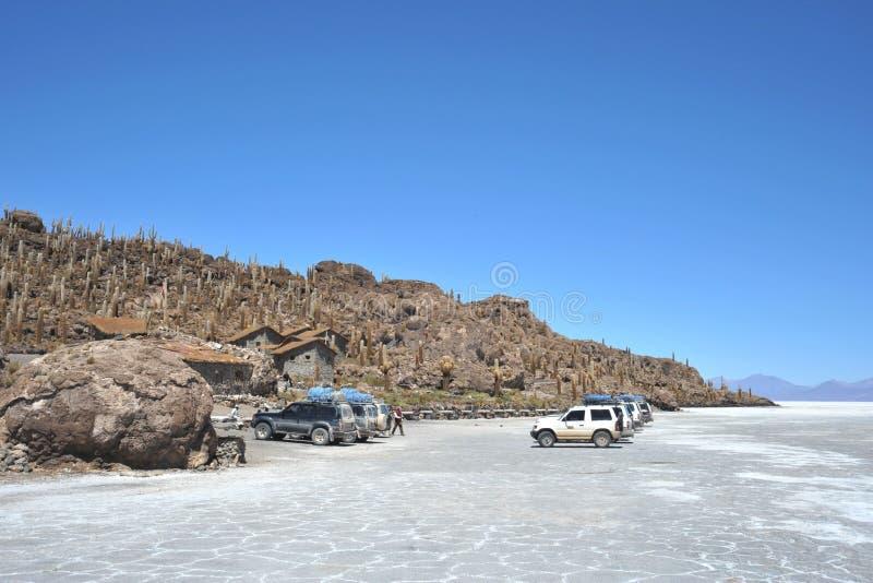 Wyspy inka Wasi - kaktusowa wyspa zdjęcia stock