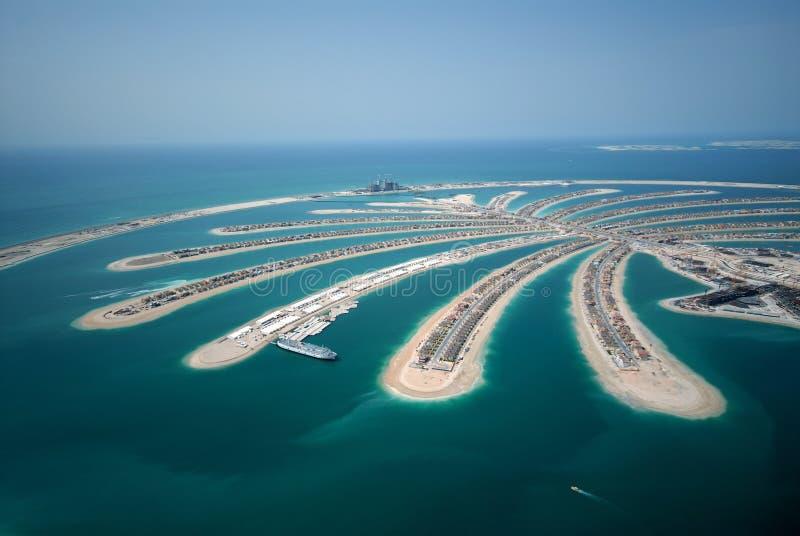 wyspy jumeirah dłoni obrazy royalty free