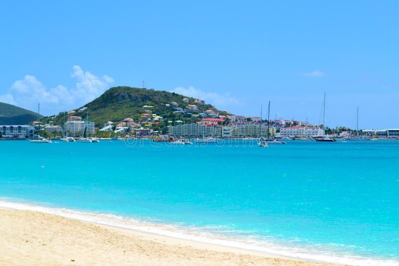 Wyspy Karaibskiej Plaża zdjęcia stock