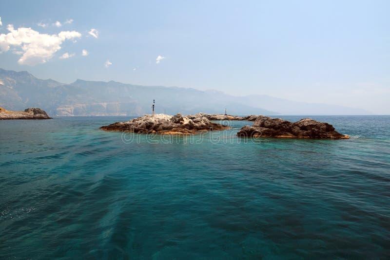 wyspy kształtują obszar widok fotografia stock