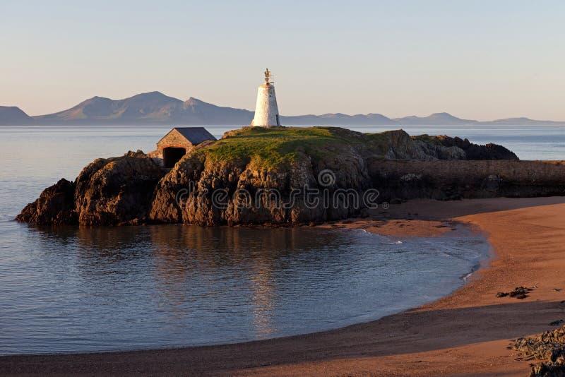 wyspy latarni morskiej llandwyn obraz royalty free