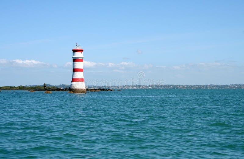 wyspy latarni morskiej rangitoto zdjęcie royalty free