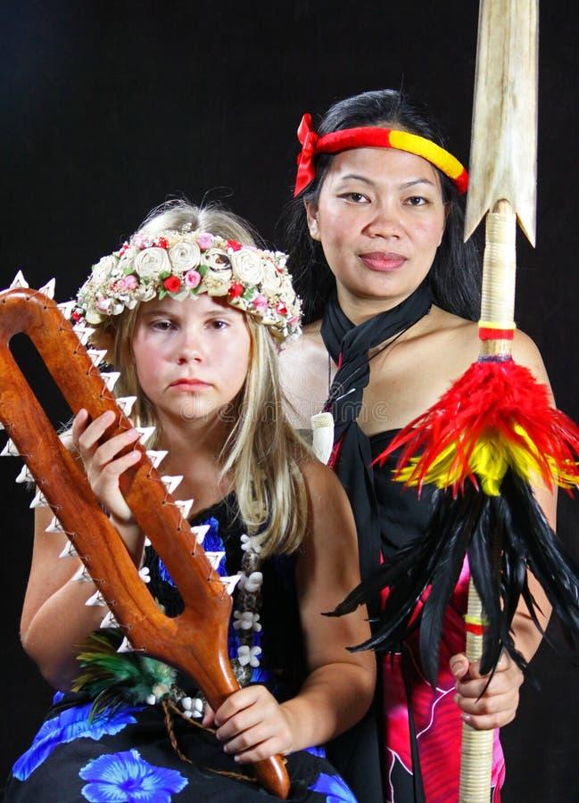 Wyspy Młoda Dziewczyna Dziewczyna i obraz stock