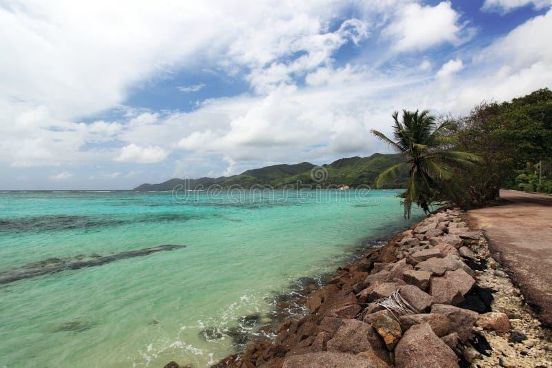 wyspy mahe seascape Seychelles zdjęcie stock