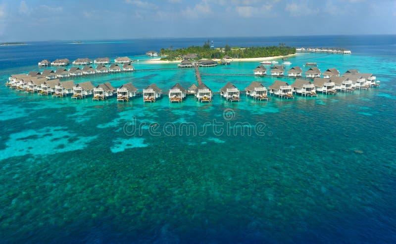 wyspy Maldives willi woda zdjęcie stock