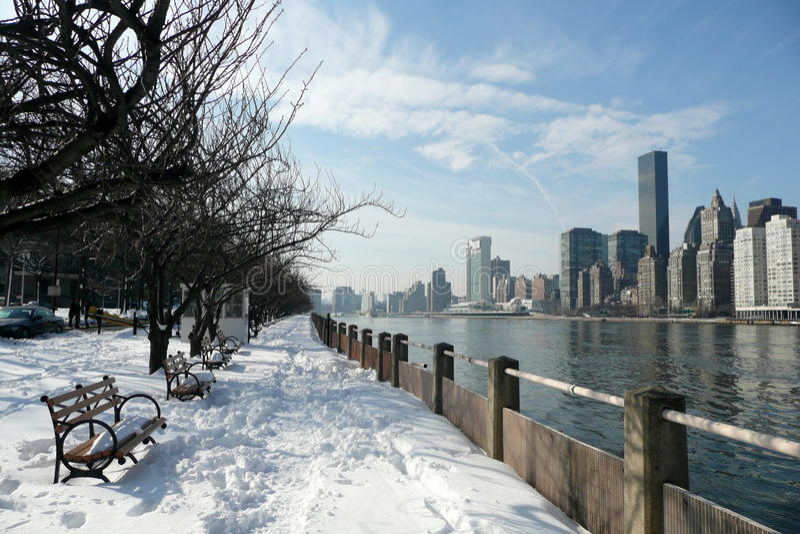 wyspy Manhattan Roosevelt zima obraz stock