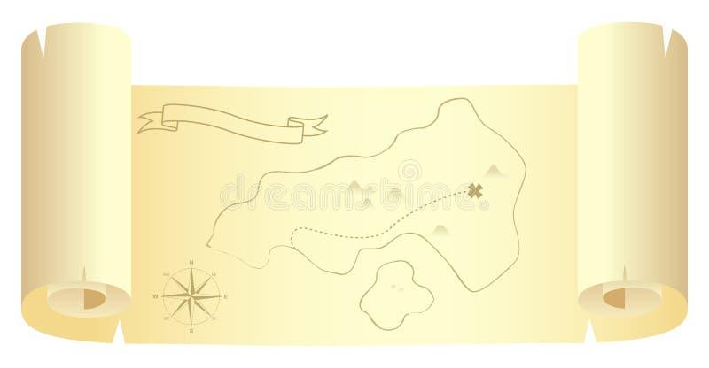 wyspy mapy skarb ilustracji