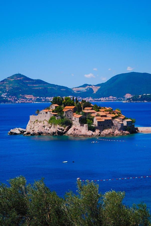 wyspy Montenegro Stefan sveti obraz royalty free