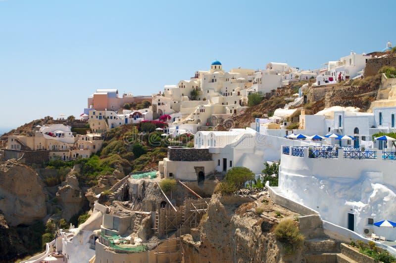 wyspy Oia santorini wioska obrazy royalty free