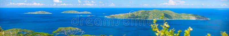 wyspy panorama Seychelles obraz stock