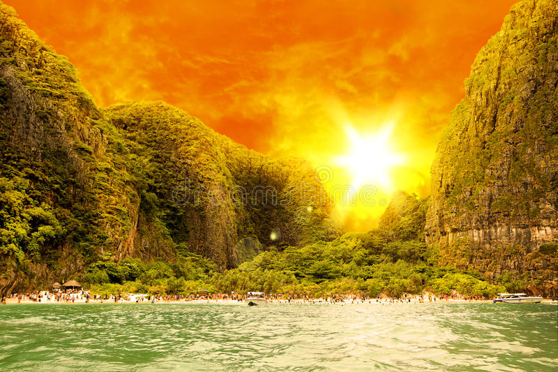 wyspy plażowy phi fotografia royalty free