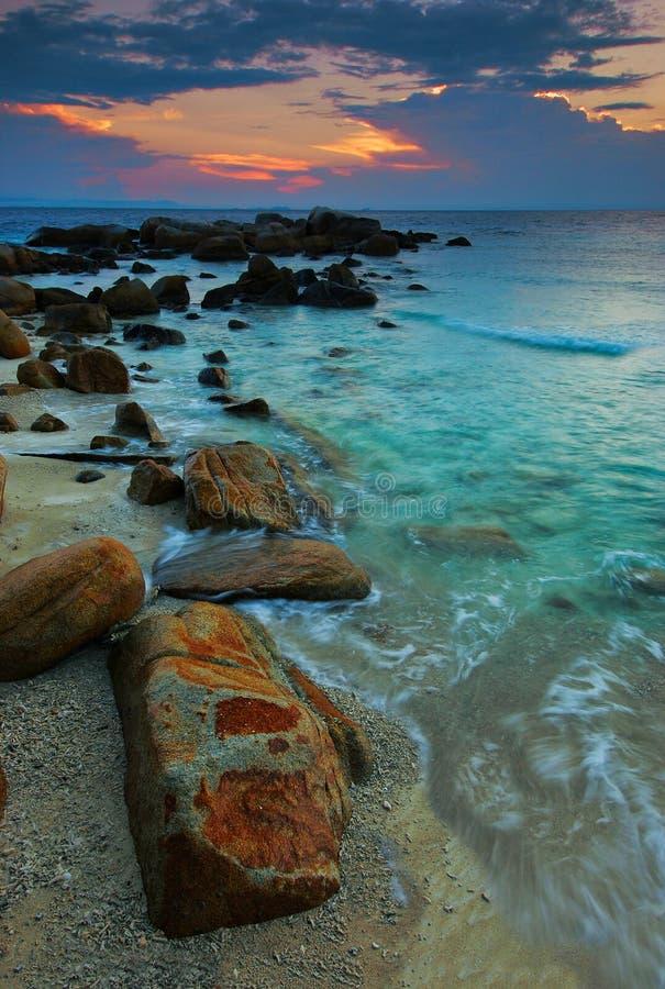wyspy redang zmierzch zdjęcia stock