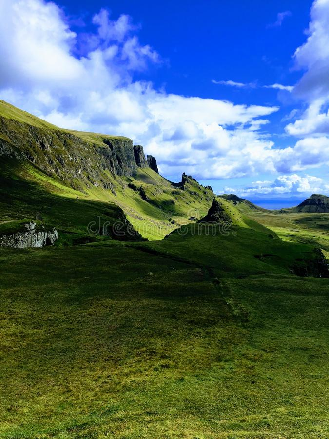 wyspy Scotland skye trotternish ridge zdjęcie stock