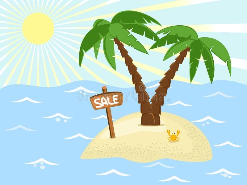 wyspy sprzedaż ilustracja wektor