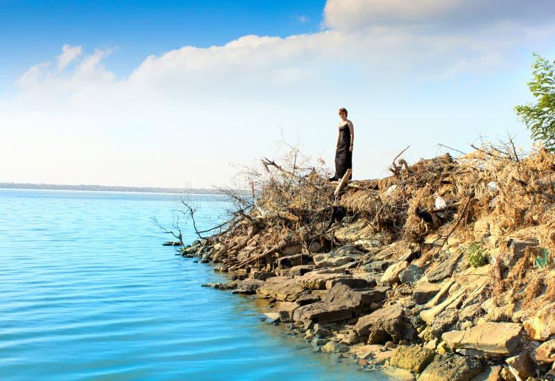 wyspy trwanie kobiety potomstwa obrazy stock