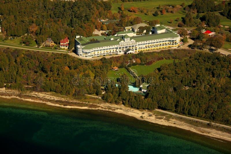 wyspy uroczysty hotelowy mackinac Michigan fotografia royalty free
