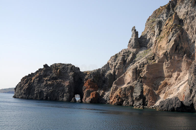 wyspy vulcano obrazy stock