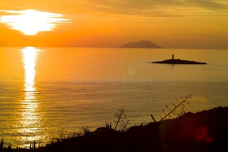 wyspy zmierzchu svetac vis zdjęcie royalty free