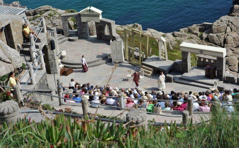 Występ, Minack Theatre, Cornwall zdjęcia royalty free