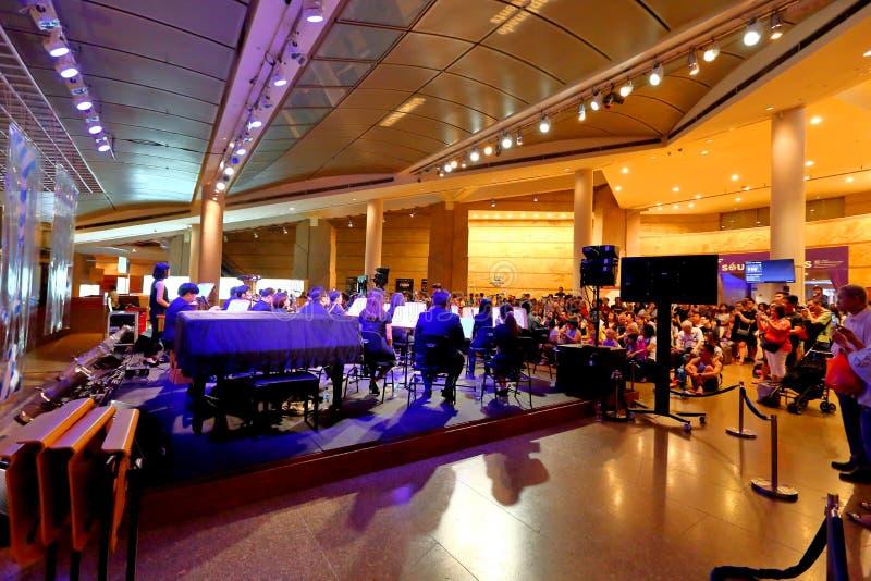 Występ przy esplanadą Singapur obrazy stock