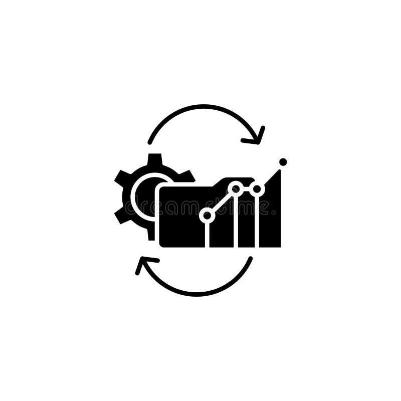 Występ rzuca wyzwanie czarnego ikony pojęcie Występ rzuca wyzwanie płaskiego wektorowego symbol, znak, ilustracja royalty ilustracja
