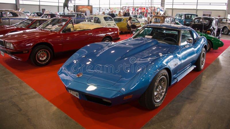 Wystawa antyk i sportowi samochody w Verona obraz stock