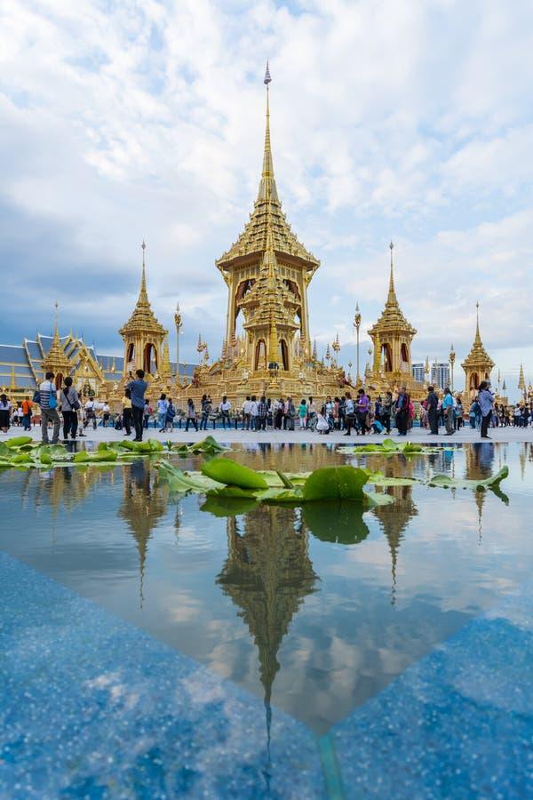 Wystawa królewiątka Rama IX Królewski Crematorium fotografia royalty free