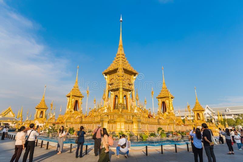 Wystawa królewiątka Rama IX Królewski Crematorium zdjęcia stock