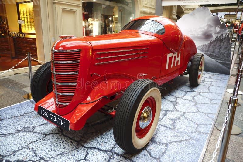 Wystawa Radzieccy retro samochody w Moskwa zdjęcie stock