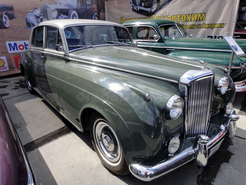 Wystawa retro samochody Samochodowy ?Bentley S2 ?, rok manufaktura 1962, pojemno?? 175 HP, Wielki Brytania obrazy stock