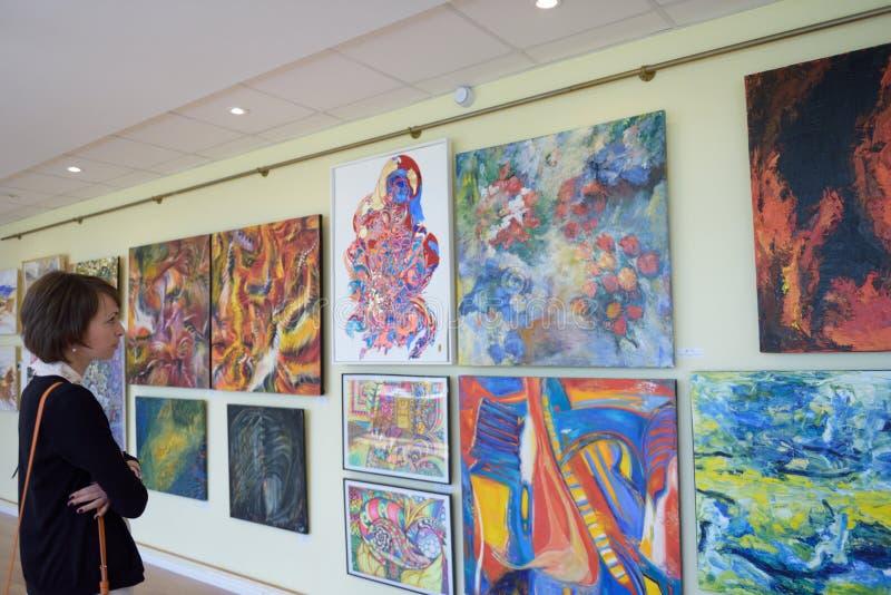 wystawa sztuka współczesna obraz stock