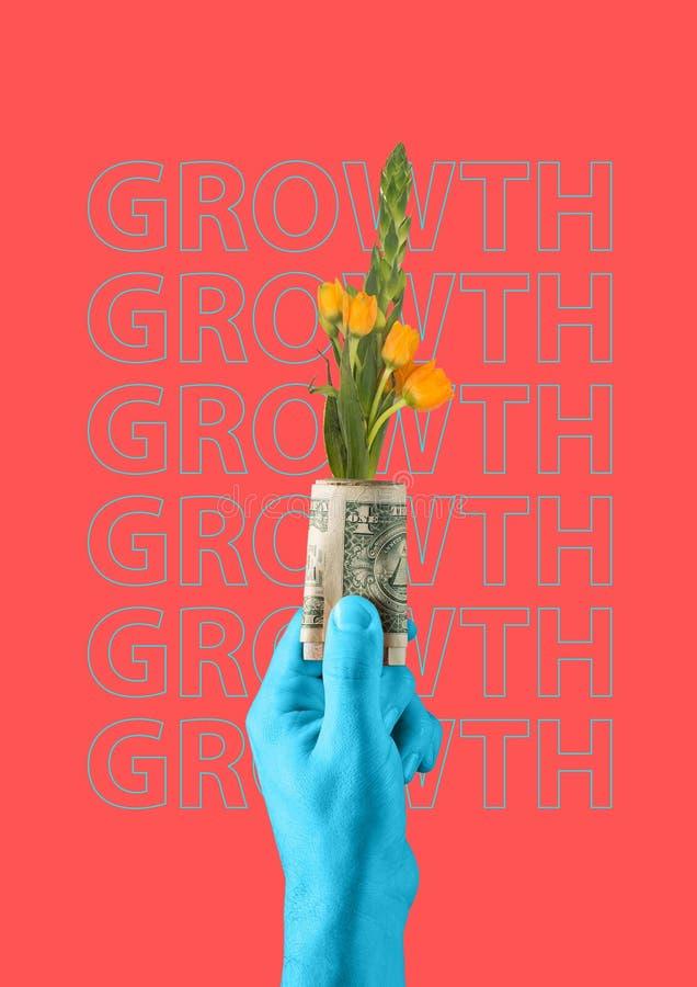 wystawia rachunek dolarowego trawy zieleni narastającego przyrosta sto pieniądze jeden nowoczesne projektu Dzisiejsza ustawa kola royalty ilustracja