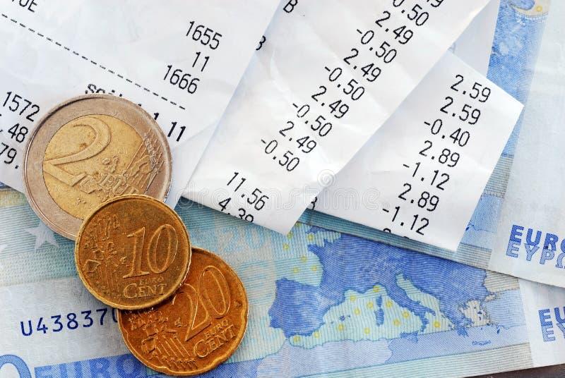 wystawia rachunek pieniądze zdjęcie royalty free