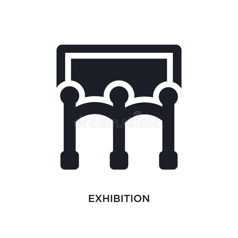 wystawy odosobniona ikona prosta element ilustracja od muzealnych pojęcie ikon powystawowy editable logo znaka symbolu projekt da royalty ilustracja