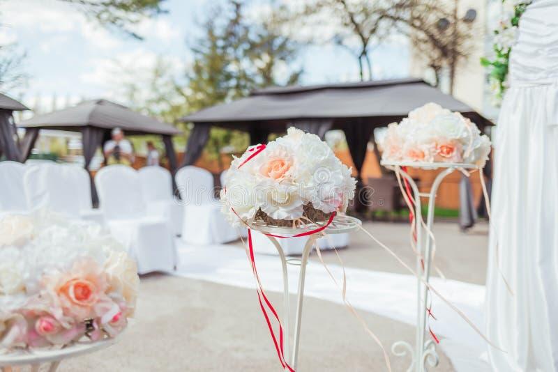 Wystrój dla ślubnej ceremonii zbliżenie zdjęcia royalty free