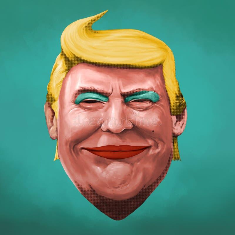 Wystrzał sztuki Donald atutu ilustracja ilustracja wektor