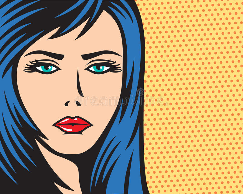 Wystrzał sztuki kobiety ilustracja ilustracja wektor