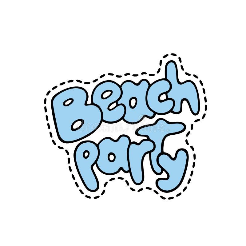 Wystrzał sztuki mody modna łata, szpilka, odznaka i majcher, - plażowy przyjęcie Śliczna ręka rysująca wektorowa ilustracja Doodl ilustracja wektor