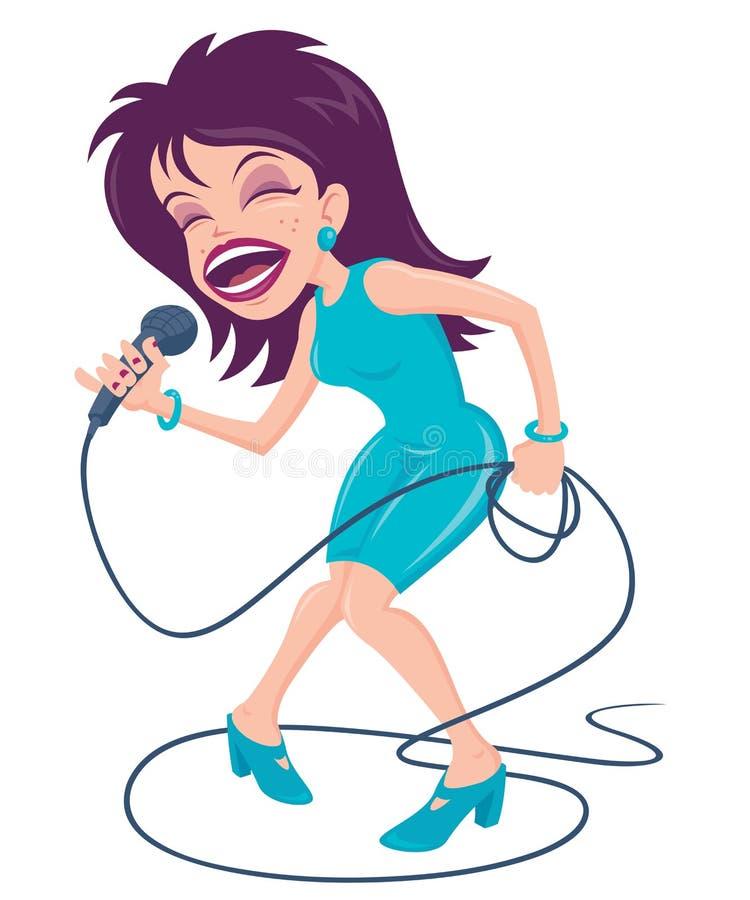 wystrzału żeński piosenkarz ilustracji